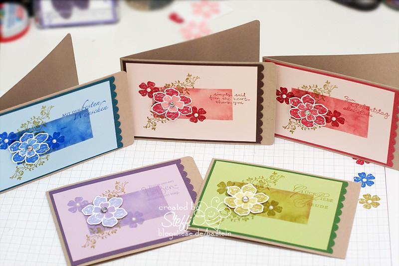 Grußkarten in verschiedenen Farbvarianten