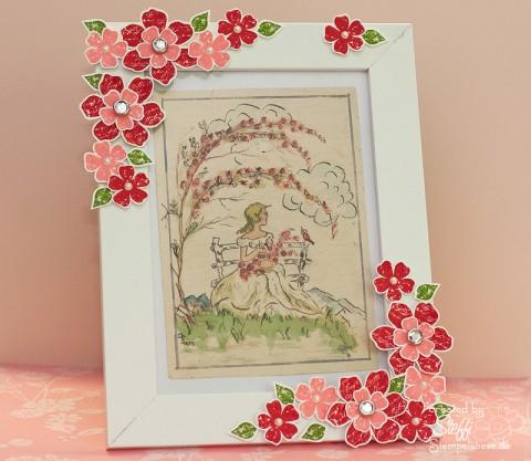 Erbstück gerahmt - Blumenmädchen - Zeitlos