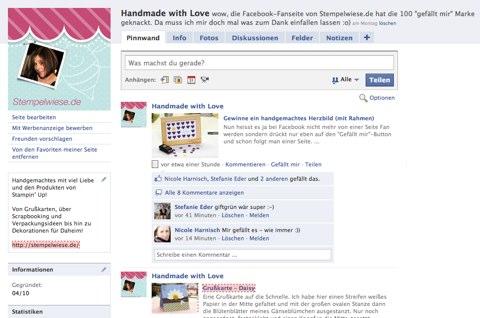 Fanseite von Stempelwiese.de bei Facebook