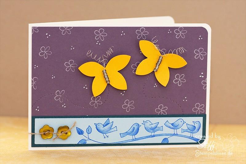 Grußkarte mit Schmetterlingen