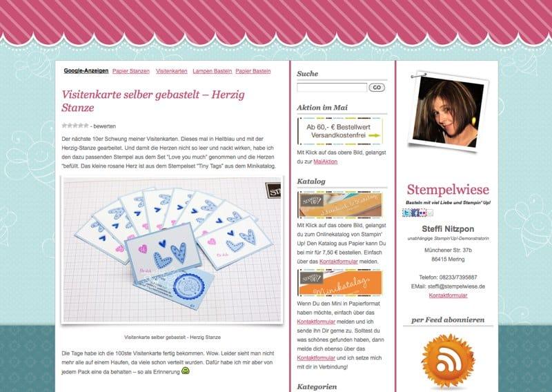 Screenshot von Stempelwiese.de