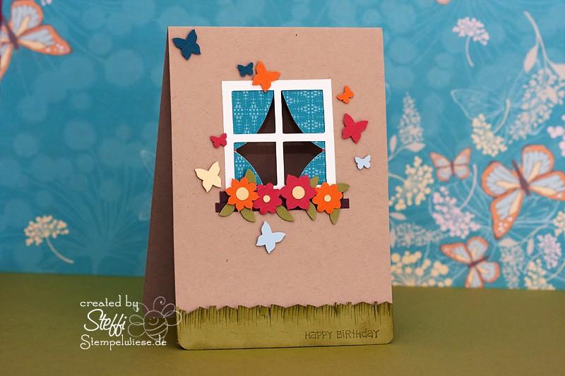 Geburtstagskarte mit Fenster