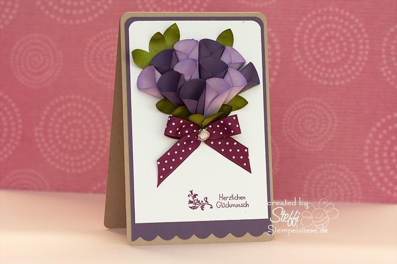 Glückwunschkarte - 3D Blume