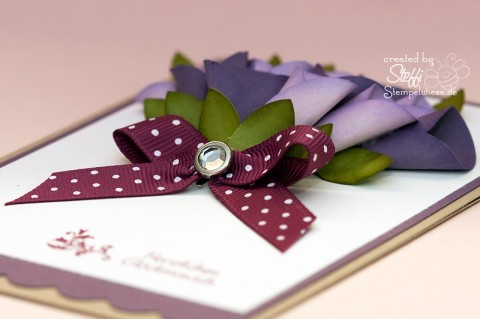 Glückwunschkarte - 3D Blume - Detail