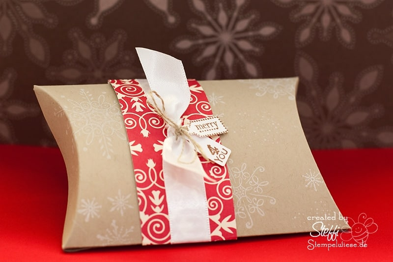 pillow box weihnachtsgeschenke h bsch verpackt stempelwiese. Black Bedroom Furniture Sets. Home Design Ideas