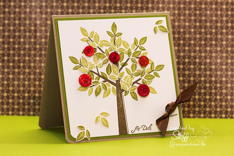 Grußkarte - Apfelbaum