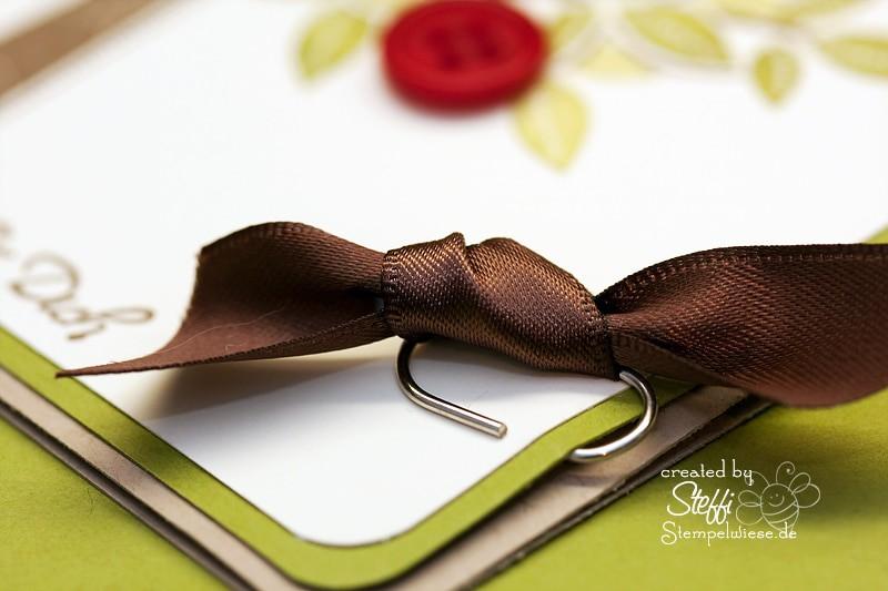 Grußkarte - Apfelbaum - Ribbon