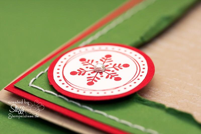 Weihnachtskarte mit Glitter - Strass