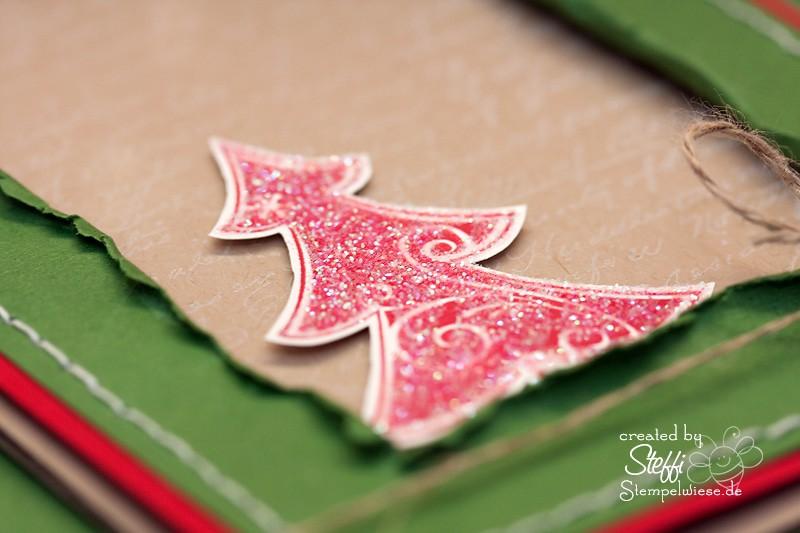 Weihnachtskarte mit Glitter - Tree