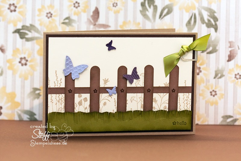 Grußkarte mit Zaun