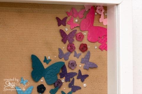 Rainbow Butterfly mit Stampin' Up! und RIBBA - oben