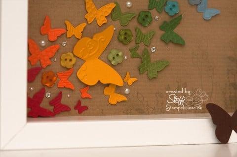 Rainbow Butterfly mit Stampin' Up! und RIBBA - unten