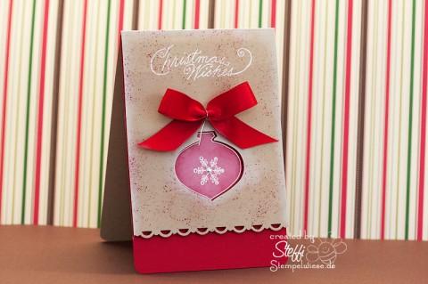 Weihnachtskarte mit Weihnachtskugel 1