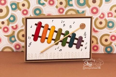Geburtstagskarte für Kinder - Xylophon 1