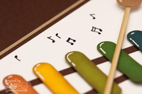 Geburtstagskarte für Kinder - Xylophon 2