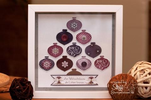 Weihnachtsdeko - Rahmen mit Ornamentstanze 1