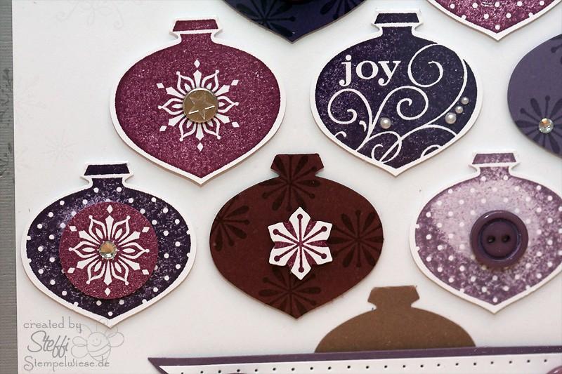 Weihnachtsdeko - Rahmen mit Ornamentstanze 2