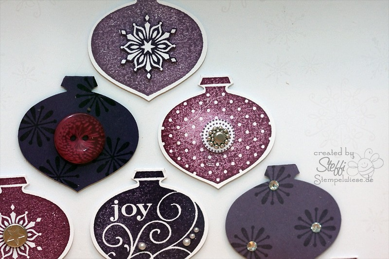 Weihnachtsdeko - Rahmen mit Ornamentstanze 3