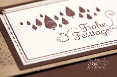 Teelichtkarte - Frohe Festtage 2