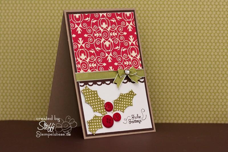 Weihnachtskarte - mit Knöpfen 1