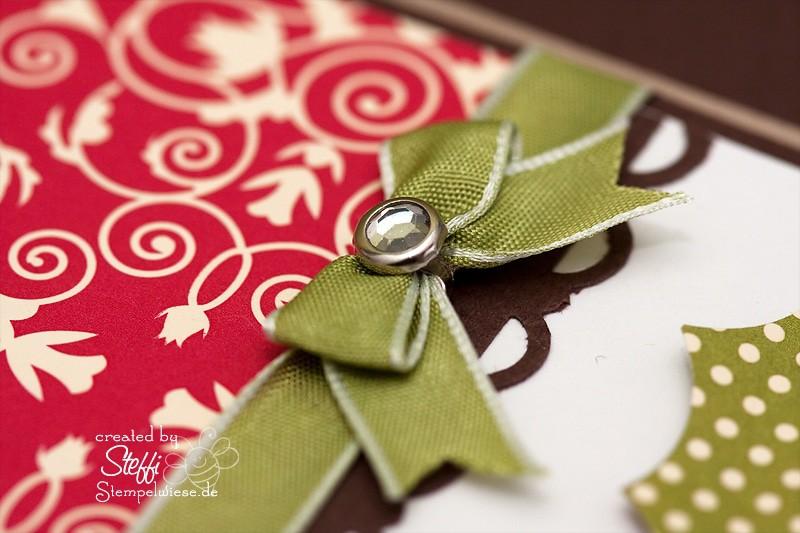 Weihnachtskarte - mit Knöpfen 3