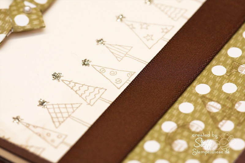 Weihnachtskarte - Origami Kranz 3