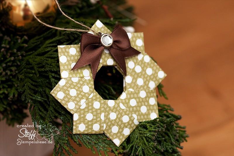 Video Tutorial - Origami Weihnachtskranz 1