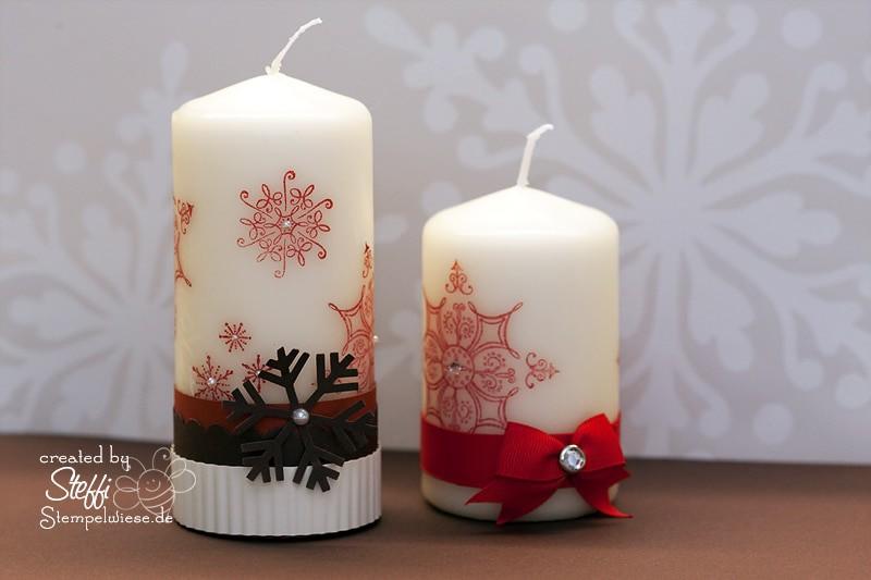 Kerzen bestempeln und verzieren 1
