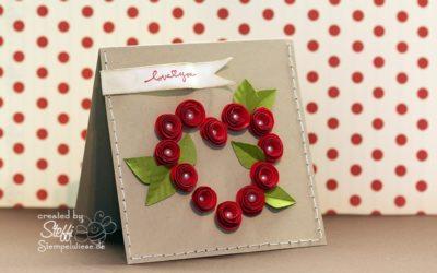 Valentinskarte mit Röschen