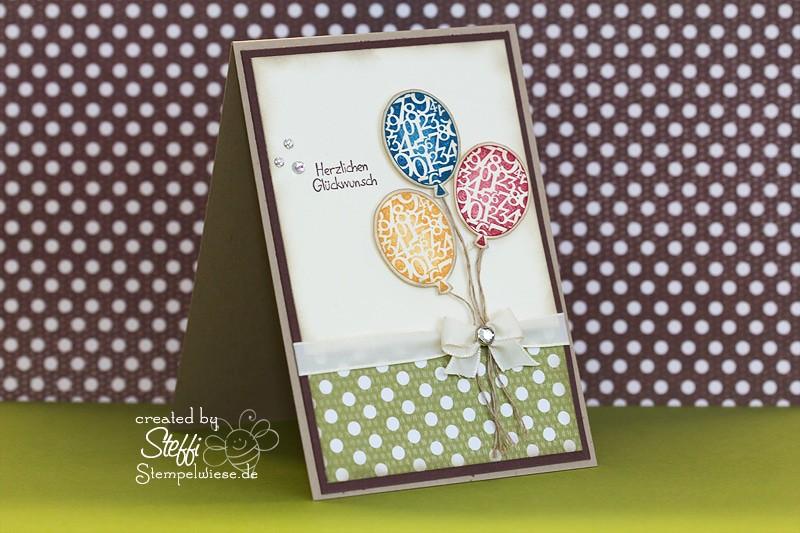Geburtstagskarte mit Luftballons 1