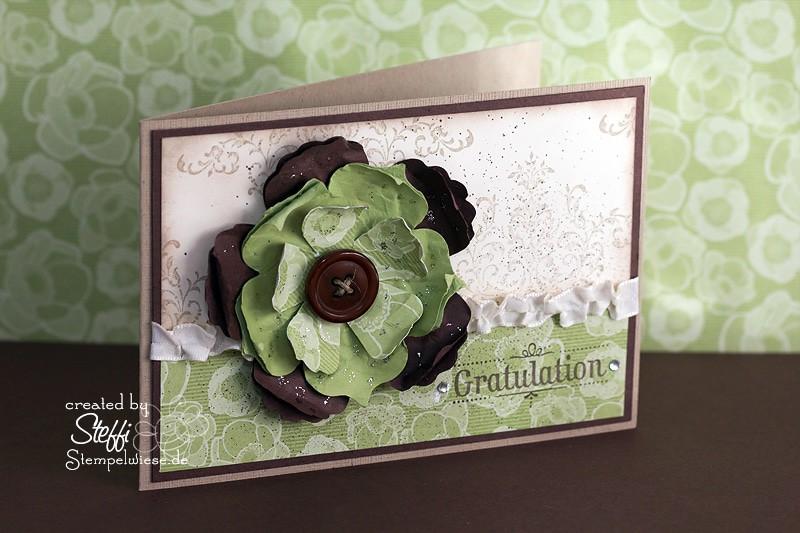 Geburtstagskarte - Blumenreigen 1