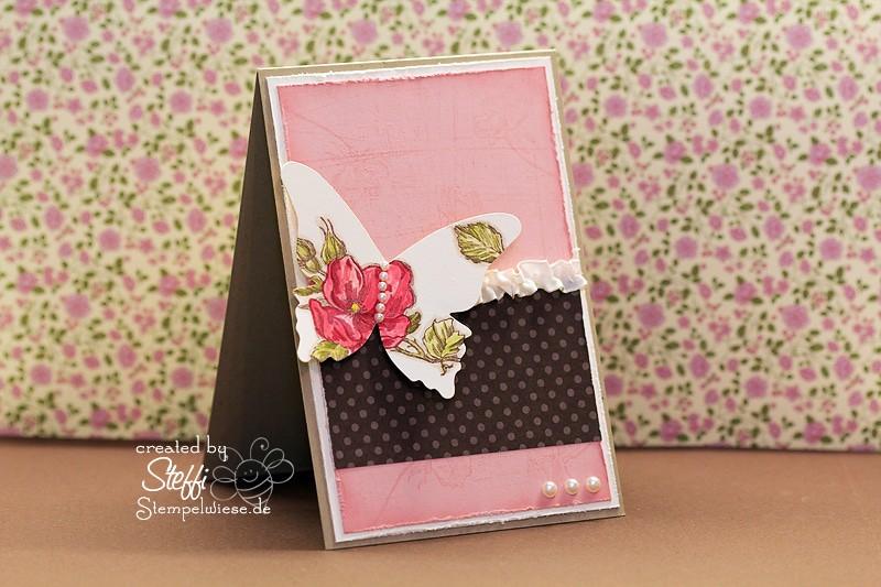 Grußkarte - zauberhafte Schmetterlinge 1