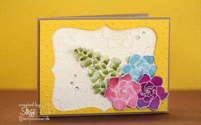 Grußkarte – Coloriert mit Nachfülltinten
