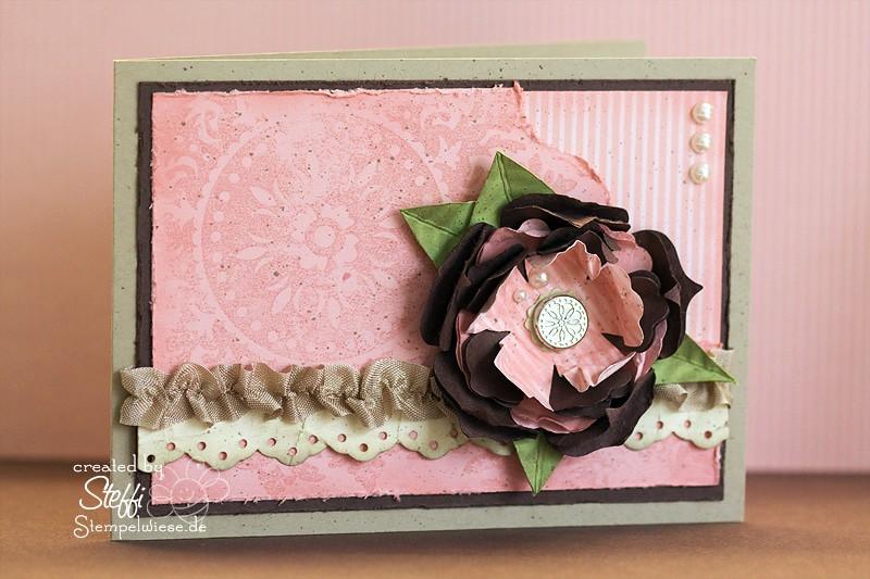Grußkarten mit Blumenreigen 1