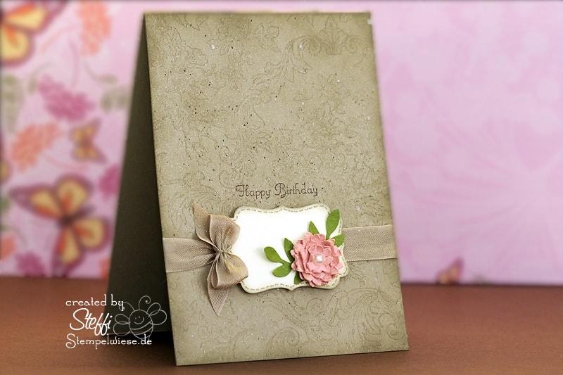 Geburtstagskarte - romantisch ♥ Stempelwiese