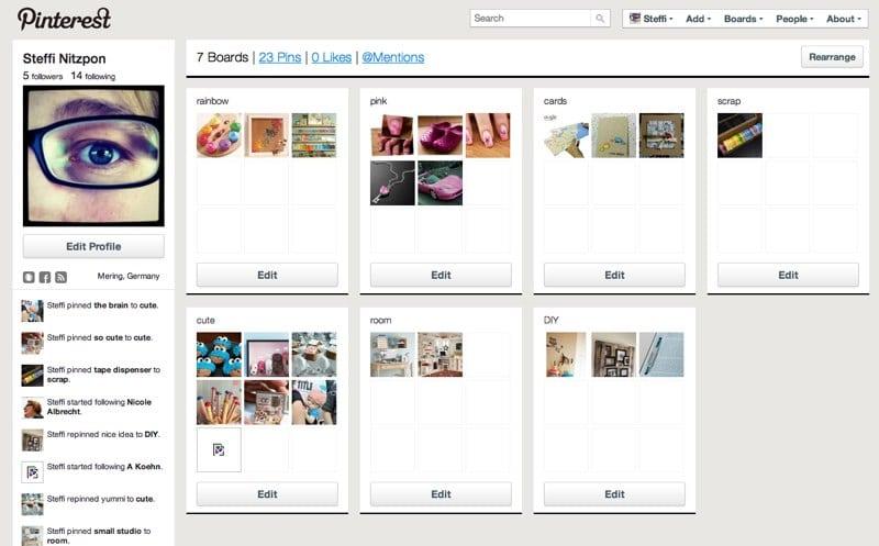 Pinterest - Zum Bilder abspeichern und teilen 1