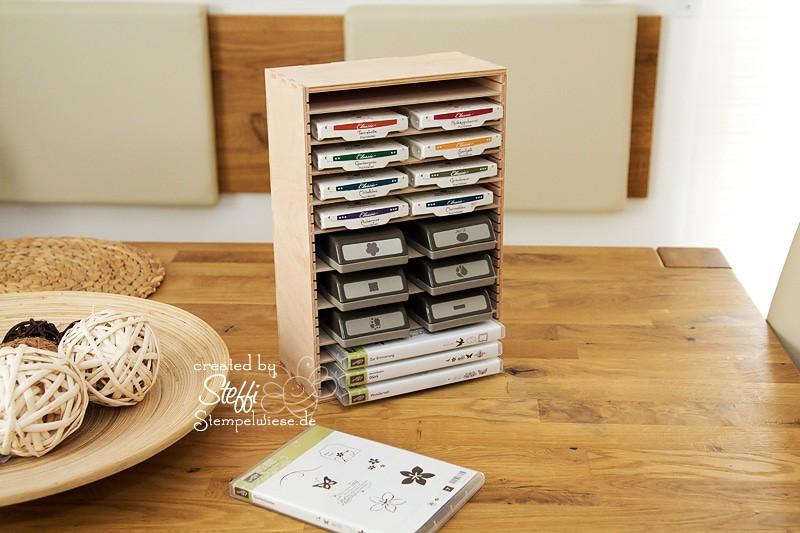 chaos ade regal f r stempelkissen stanzer und dvd. Black Bedroom Furniture Sets. Home Design Ideas