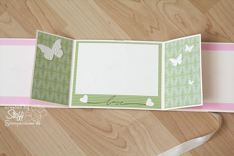 Hochzeitsalbum in Mattgrün, Rosè und Vanille 6
