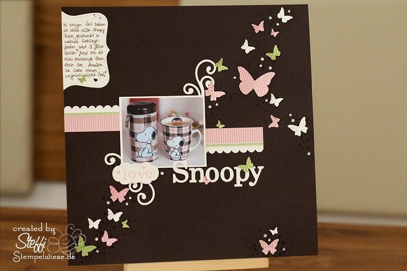 Ich liebe Snoopy - Scraplayout 1