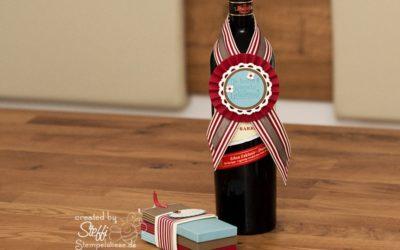 Flaschenhänger und Ziehkarten – Geschenkset