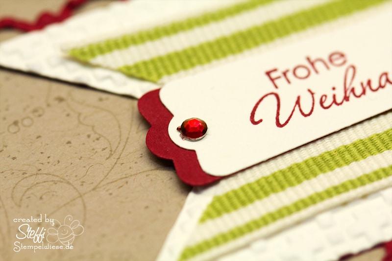 Frohe Weihnachten - Weihnachtskranz und Glöckchen 3