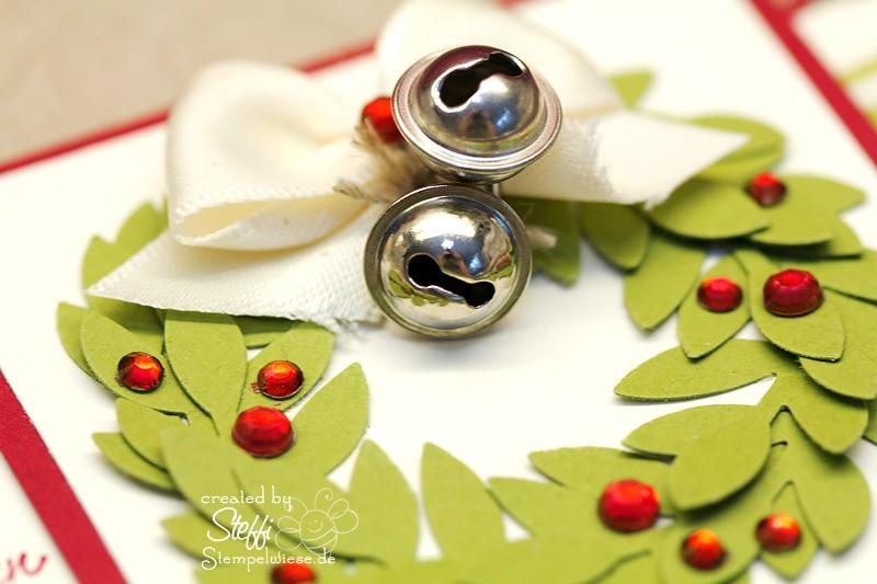 Frohe Weihnachten - Weihnachtskranz und Glöckchen 2