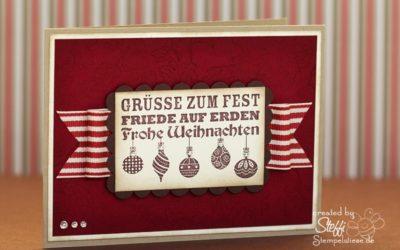 Weihnachtskarte – Weihnachtswünsche