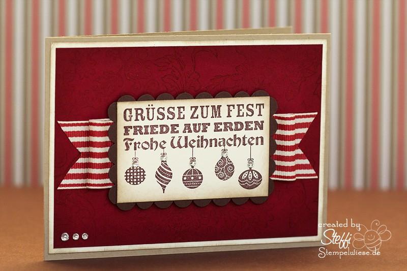 Weihnachtskarte - Weihnachtswünsche 1