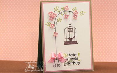 Geburtstagskarte für Vogelliebhaberin