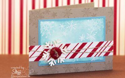 Weihnachtskarte – Schneeflocke