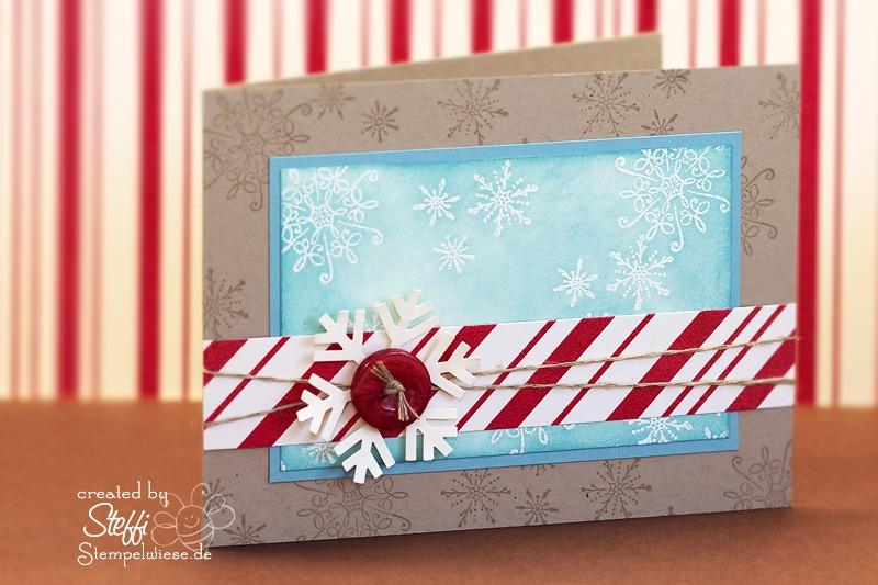 Weihnachtskarte - Schneeflocke 1