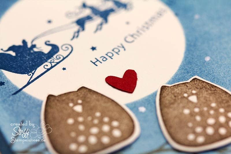 Weihnachtskarte mit Eulen 2