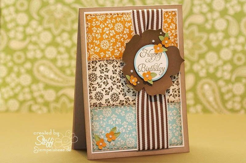 Geburtstagskarte mit Herbstnostalgie 1