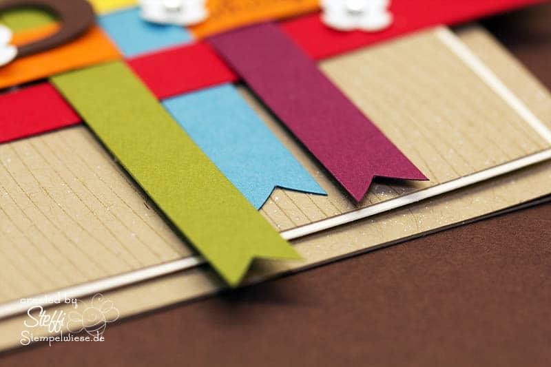 Geburtstagskarte in Regenbogenfarben 2